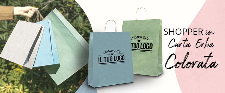 Shopper Carta Erba Colorata Personalizzata
