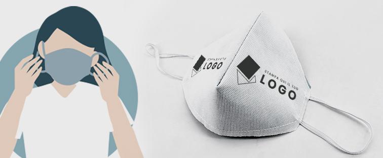 Mascherina personalizzabile in TNT