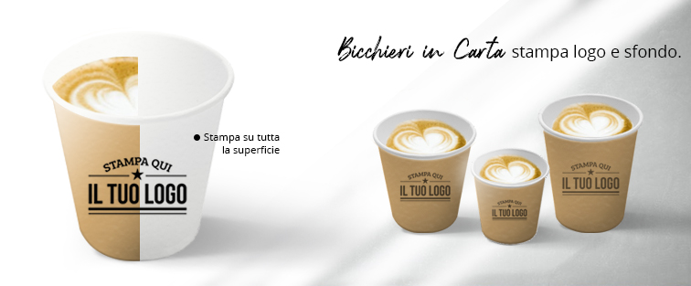 Bicchieri di Carta Personalizzati Bevande Calde