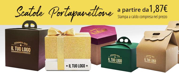 Scatola per Panettone Personalizzata Cartone Liscio Marrone