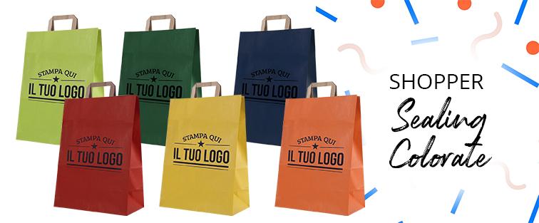 Shopper Carta Sealing Colorata Personalizzata