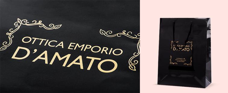 Shopper Lusso Plastificata Lucida Personalizzata
