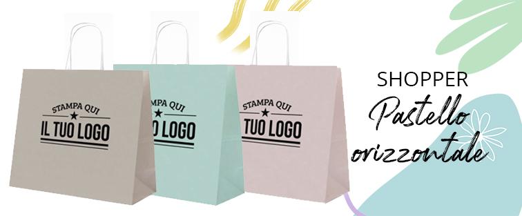 Shopper Pastello Orizzontale Personalizzata